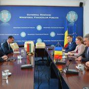 Среща на посланик Т. Чуров с министъра на публичните финанси на Румъния В. Щефан