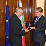 Награждаване на проф. Лука Велчов със Златна лаврова клонка на МВнР